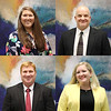 Portraits of new administrative appointments. Principal Liesl James of Midway Park Elementary (top left); DAEP/Truancy Coordinator Ray Fuller (top right); Assistant Principal Brian Lilly of Trinity High School (bottom left); Principal Cameron Ramirez of Lakewood Elementary (bottom right).