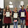 Student artists (and their art teachers) whose works were recognized as Finalists and the Winner in the 2018 HEB Holiday Card Contest.