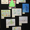 The eight artworks from 2018 HEB Holiday Art Card Honorable Mention Artists