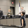 Sanad K. from Bellaire Elementary leading the Pledge of Allegiance.