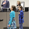 Students leading the Pledge of Allegiance