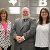 Elementary Honor Choir Director Linda Ford and Assistant Director Alexandra Claset, with Director of Visual and Performing Arts Mark Chandler