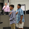 AJ and Jacob from Wilshire Elementary lead the Pledge of Allegiance.