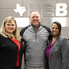 Board president Julie Cole with Bellaire Elementary principal Katina Rhodes and a representative from Moritz Kia in recognition of a donation from Moritz Kia.