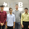 Superintendent with L.D. Bell High School students who earned National Merit Semi-Finalist, National Hispanic Scholar, and National Merit Commended honors.