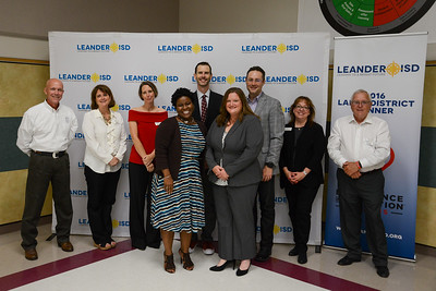 At the Leander ISD Board Meeting Sept. 21, 2017, Emily Veraa, an agriculture science teacher at Leander High School, was recognized by the Board for receiving the Ideas Unlimited – Innovative Teaching Award from the Vocational Agriculture Teacher Association of Texas.