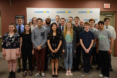 Band and choir students from all six high schools were recognized for being selected as Texas All-State musicians, the highest individual honor a high school musician can attain.