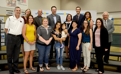 Vista Ridge High School student Flor Fuentes Euceda, recognized for receiving the Dell Scholars award. The Dell Scholars program assists students who are oftem among the first in their families to attend college. All Dell Scholars have overcome significant challenges in their pursuit of higher education.
