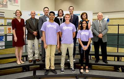 Vandegrift High School's 4546 Snakebyte robotics team, recognized for advancing to the FIRST Robotics World competition.