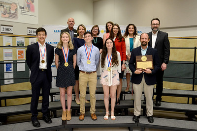 Rouse High School's Social Studies team, recognized for winning the state championship in the UIL academics competition. The Social Studies team includes Kent Ninomiya, Sophia Cramer, Sterling Walzel, Julia McLauchland and Coach Michael Yacht.