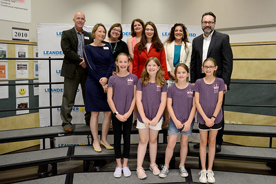 "Whitestone Elementary School DI Team 1, ""Quirky Queens,"" recognized for being one of six LISD teams to qualify for the Global Destination Imagination Competition."