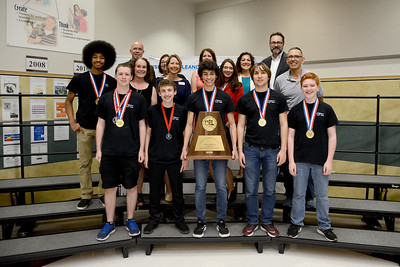 Vista Ridge High School's Victorian Voltage robotics team, recognized for being part of the winning alliance in the UIL FIRST Tech Challenge 5A/6A State Championship