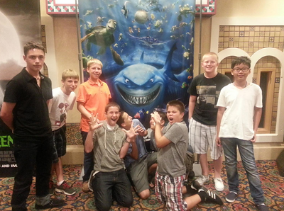 Here is a picture from the Middle School movie night from Sunday, Sept. 2, 2012. We saw the Dark Night Rises and Premium Rush.   Thanks. Bill Crum