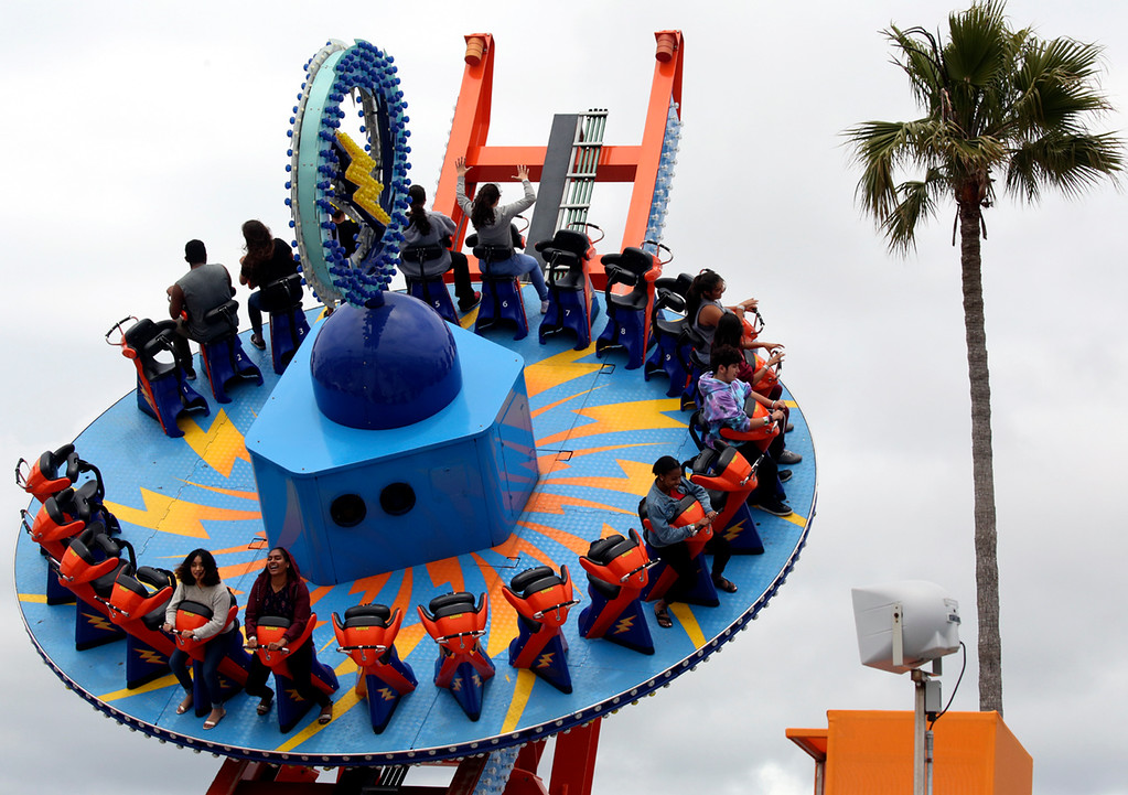 . The Santa Cruz Beach Boardwalk prepares for the Summer 2018 opening day. (Shmuel Thaler -- Santa Cruz Sentinel)
