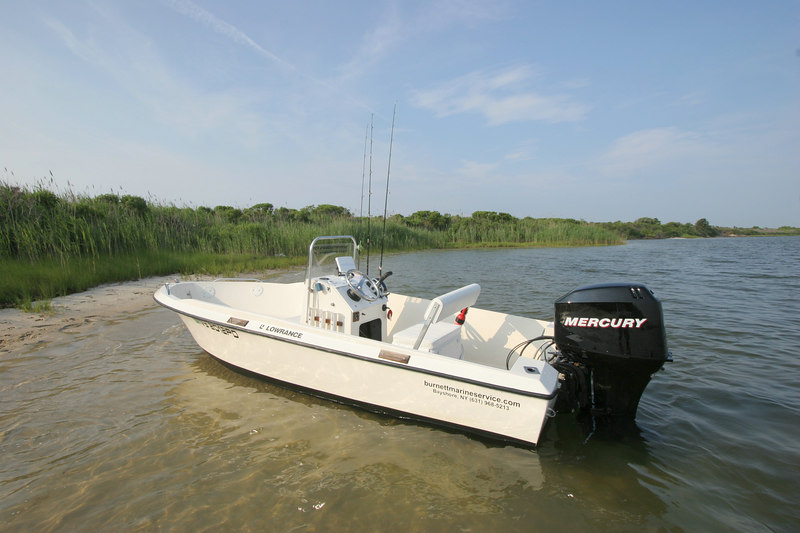 6-23-2006<br /> <br /> The New Mercury 60 HP 4 stoke engine gives the boat a top speed of 30 knts. When just cruising around the bay the fuel economy is awesome. I burn about 2.3 GPH giving me just over 7 miles to the Gallon with a range of about 80 miles.