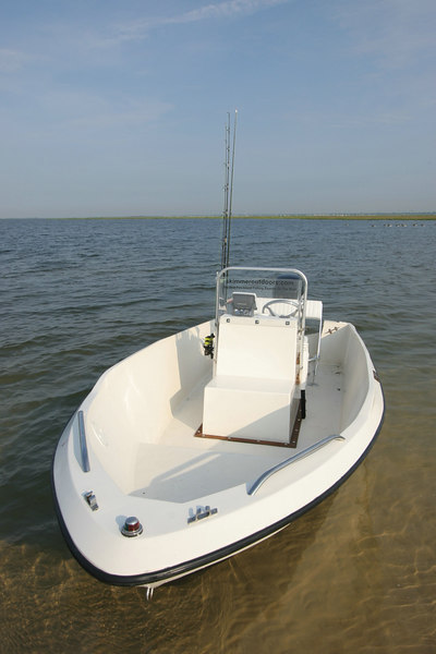 6-23-2006<br /> <br /> As you can see this fifteen foot center console has a clean and simple layout and with her narrow 6 foot beam she cuts through the Great South Bay chop like a knife.