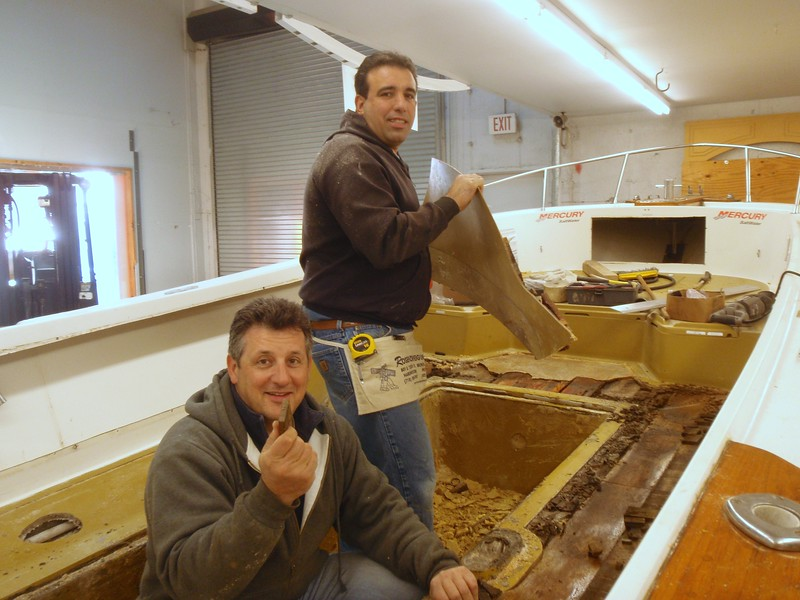 """GEORGE YURCAK (on left)<br /> FMT Machinery <br /> 22 Corbin Ave.<br /> Bayshore, NY 11706<br /> 1-800-786-0086<br /> <a href=""""http://www.fmtmachinery.com"""">http://www.fmtmachinery.com</a> - FMT Machinery has been distributing and customizing CNC Routers & Laser Masters for the past 18 years.<br /> <br /> JEFF BUTTA (on right)<br /> J & M Contemporary Custom Mica & Wood<br /> Tel: 631-845-5338<br /> 166 C Cabot Street<br /> West Babylon, NY 11704 - The finest custom cabinets and woodworking craftsmanship."""