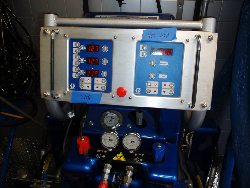 This is the on board computer that controls the mixing, pressure and temperature of the applied product.