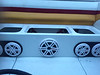 """Aftermarket speakers and custom speaker plates from  <a href=""""http://www.car-speaker-adapters.com"""">http://www.car-speaker-adapters.com</a> installed in boat"""