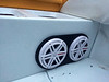 """Aftermarket speakers and custom speaker plate from  <a href=""""http://www.car-speaker-adapters.com"""">http://www.car-speaker-adapters.com</a> installed in boat"""