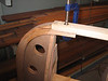 Shaping the bottom board to meet the inner stem