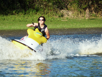 Jet skiing - Lake River - September 3, 2010