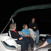 Saturday night relaxing on the water.