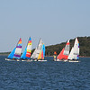 The start of a sailboat race