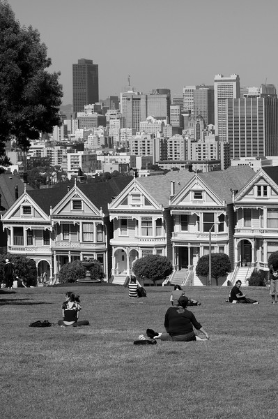 Six Victorian 'Six Sisters' 'Painted Ladies'