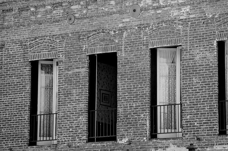 Brick Wall & Windows