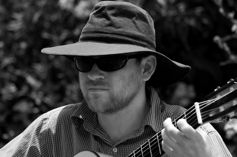 Guitarist John H. Clarke