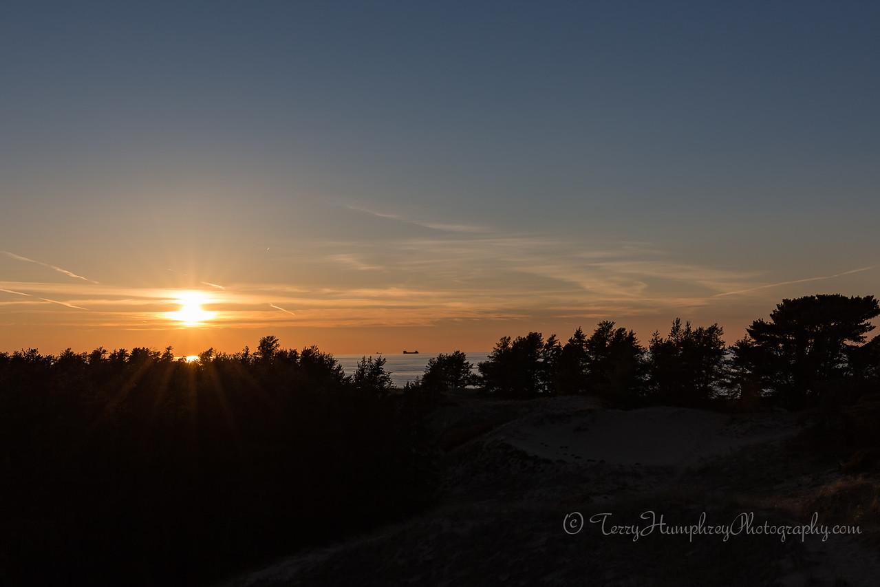 Sunset from the Raptor Observation Deck