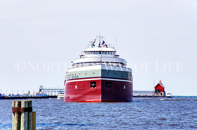 The mighty Wilfred Sykes coming down the channel in Grand Haven, Michigan