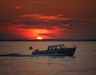 Lyman at sunset...