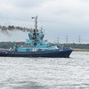 One of the 3 tugs that was sat on Fawley oil terminl sitting of Calshot castle