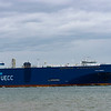 According to marine traffic website MV Auto traffic is a ...AUTO ENERGY (IMO: 9736377) is a Vehicles Carrier that was built in 2016 (5 years ago) and is sailing under the flag of Portugal. It's carrying capacity is 16988 t DWT and her current draught is reported to be 7.4 meters. Her length overall (LOA) is 181 meters and her width is 30.06 meters.   And is seen her departing Southampton water at calshot and heading out into the english channel around the isle of wright