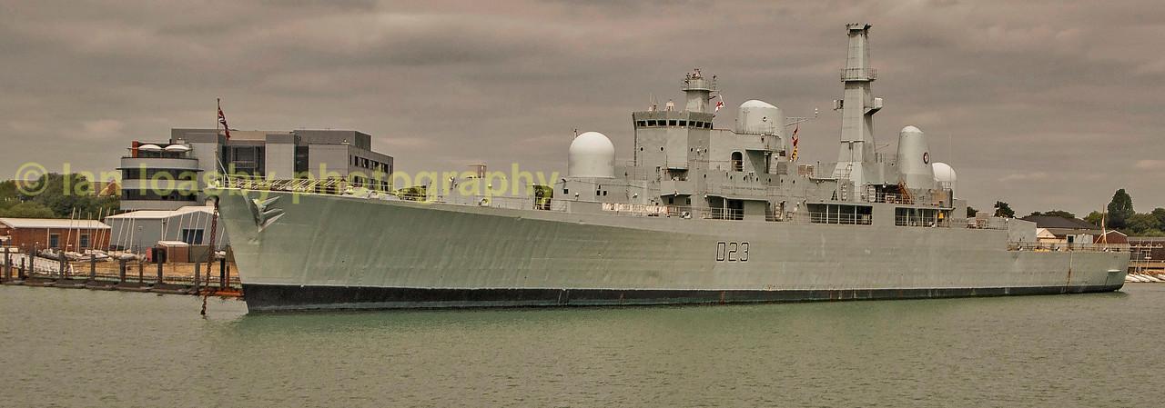 Decommisioned RN destroyer HMS Bristol