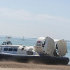 Hovertravel Griffon 12000TD hovercraft GH-2161 'Island Flyer' is seen here departing from the Southsea terminal for the short 12 minute flight to Ryde on the Isle of Wight