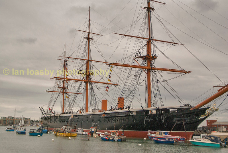 HMS  Warrior built  in 1860 now on permanant display RN dock yard Portsmouth