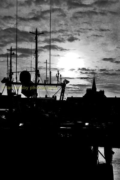 Peterhead fishing boat silhouette