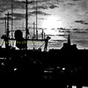 Peterhead fishing boat silhouette