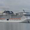 MSC Vituosa slips sedately down Southampton water
