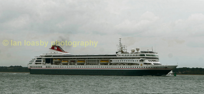 Fred Olsen Line  cruise ship braemar passing Colstock on the solent