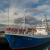 The trawler 'Genasis ' tied up at Buckie harbour Aberdeenshire
