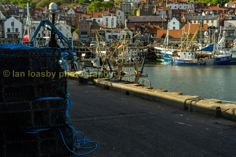 Inshore fishing boats at Scarborough  East Yorkshire