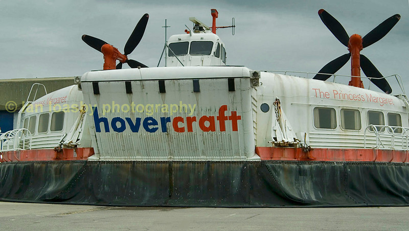 SRN4 hover craft, the worlds largest preserved and on display at the hovercraft museum at  Lee - on - Solent