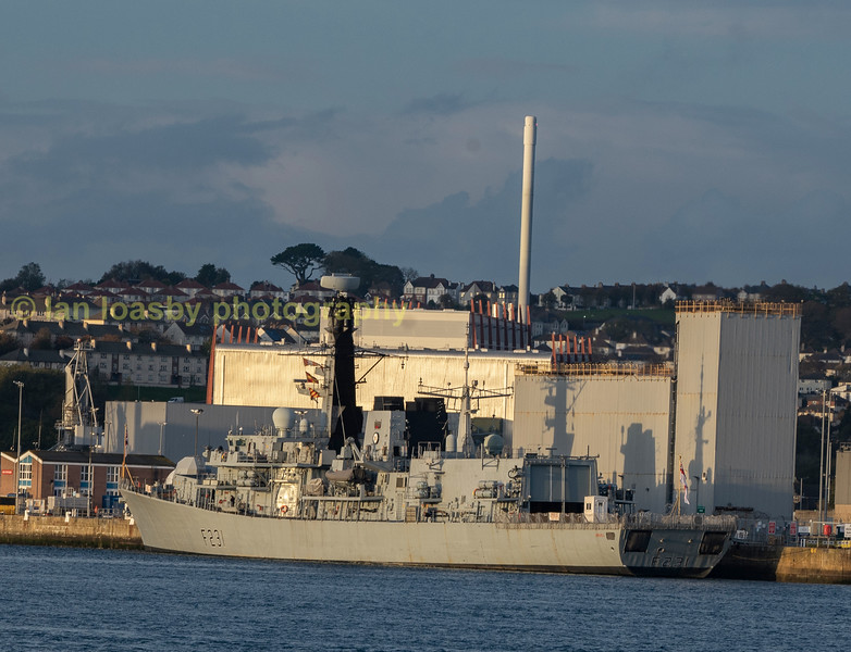 HMS Argyll type 23 frigate tied up at devenport