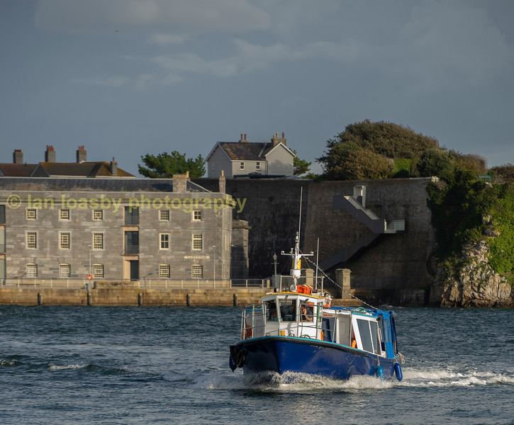 Tamar ferry aproaching cremyll on the Cornish bank