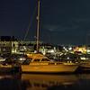 cruiser in Aberystwyth marina