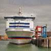 Cross channel ferry Britannia berthed at Portsmouth